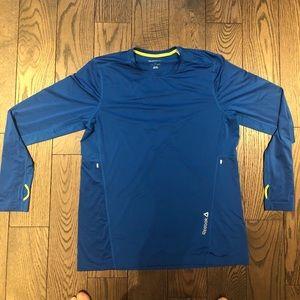 Reebok blue dry-fit workout shirt